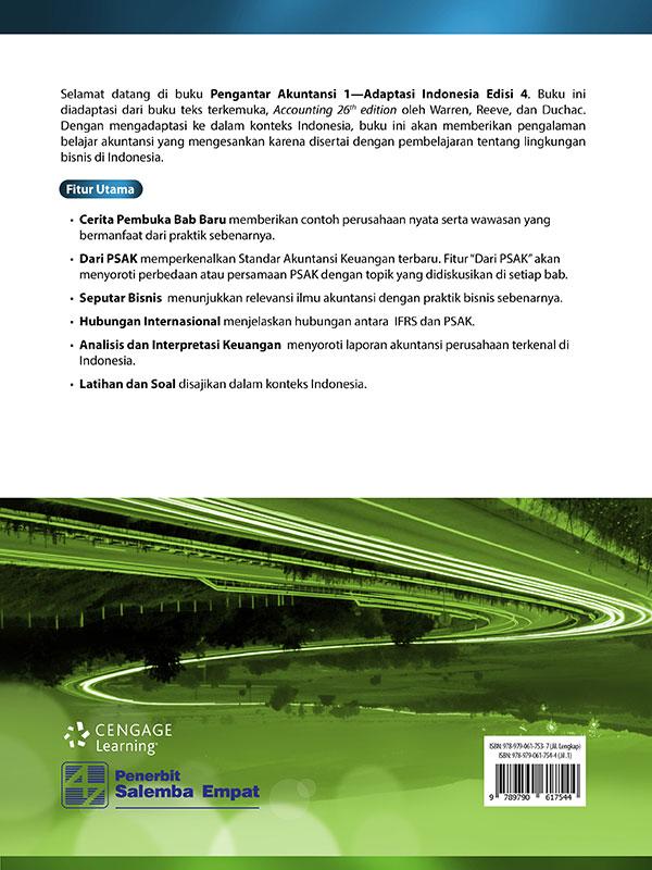 Pengantar Akuntansi 1-Adaptasi Indonesia Edisi 4/ Warren-Reeve