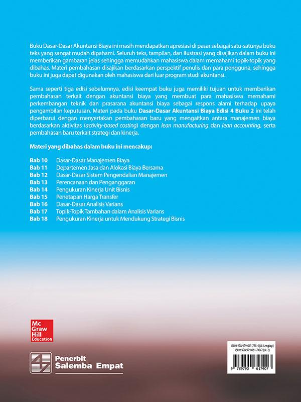 Dasar-Dasar Akuntansi Biaya Edisi 4 Buku 2/ Lanen