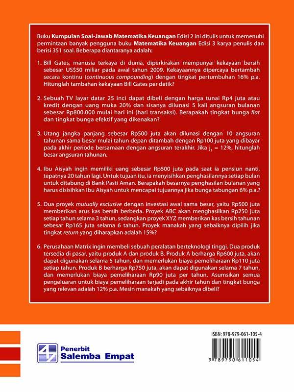 Kumpulan Soal - Jawaban Matematika Keuangan Edisi 2/Budi Frensidy