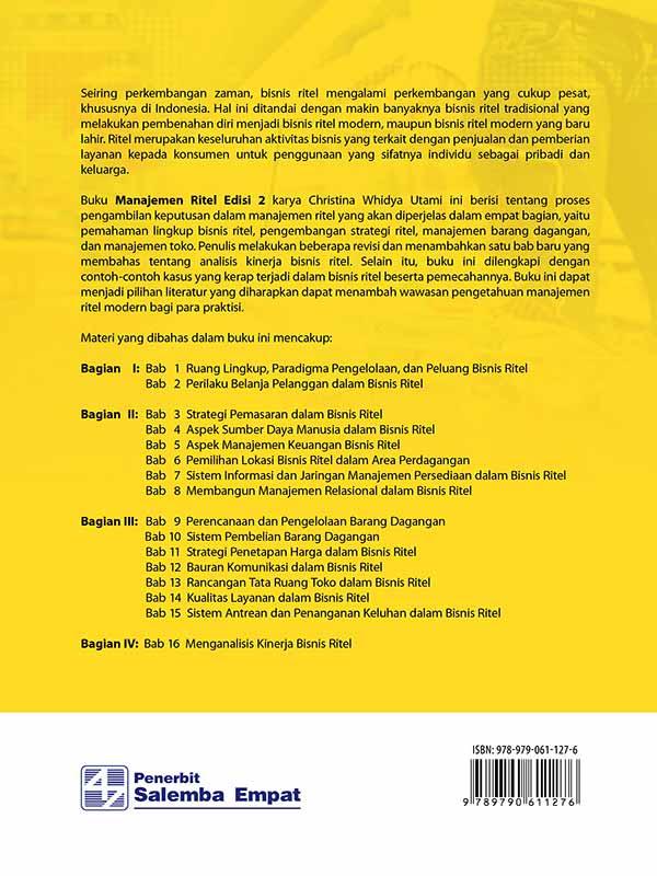 Manajemen Ritel Edisi 2/Christina Whidya