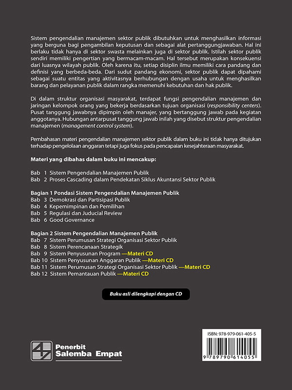 Sistem Pengendalian Manajemen Sektor Publik-CD Book/Indra Bastian