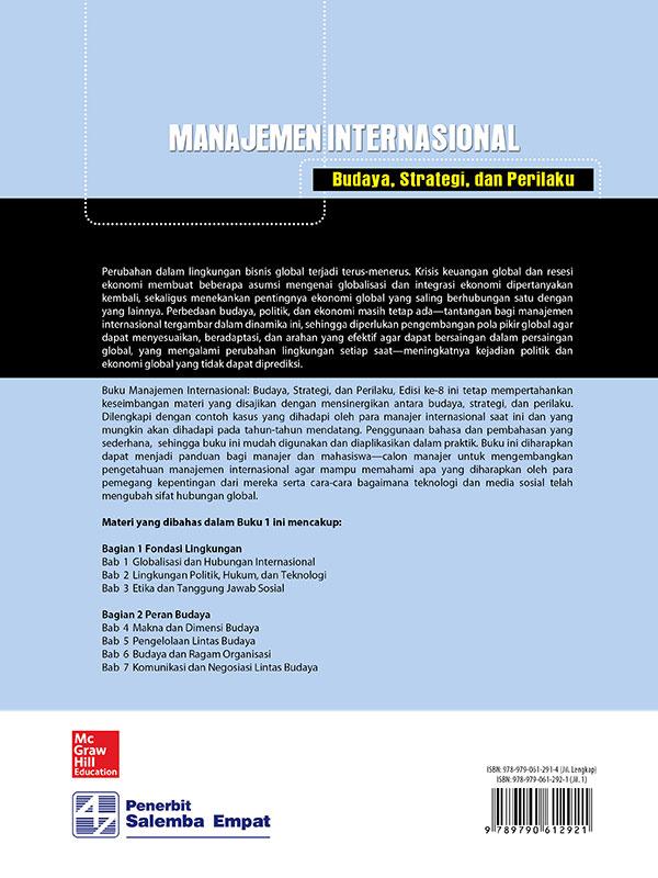 Manajemen Internasional: Budaya, Strategi,dan Perilaku Edisi 8 Buku 1/Luthans