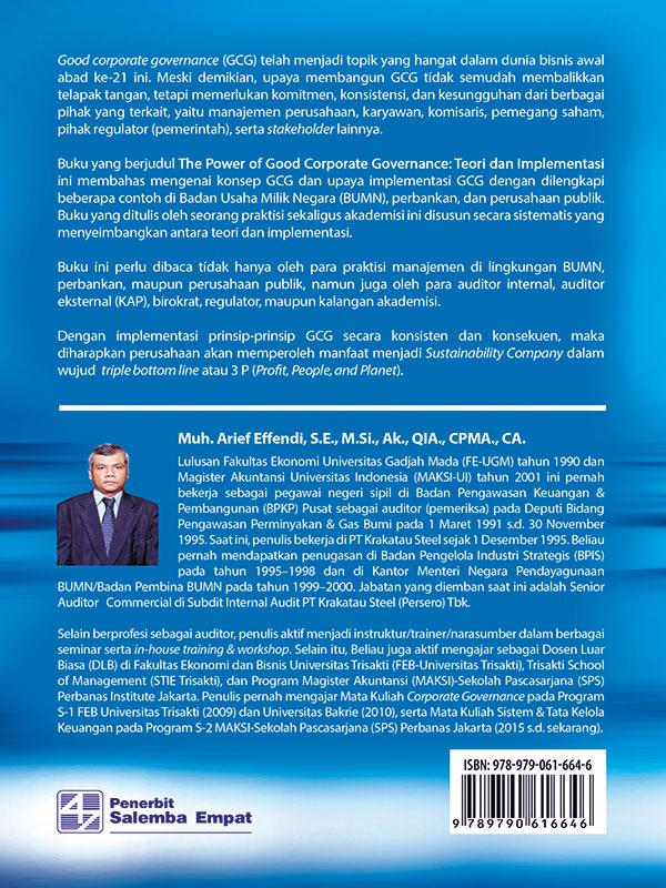 The Power of Good Corporate Governance Edisi 2-HVS/Arief Effendi