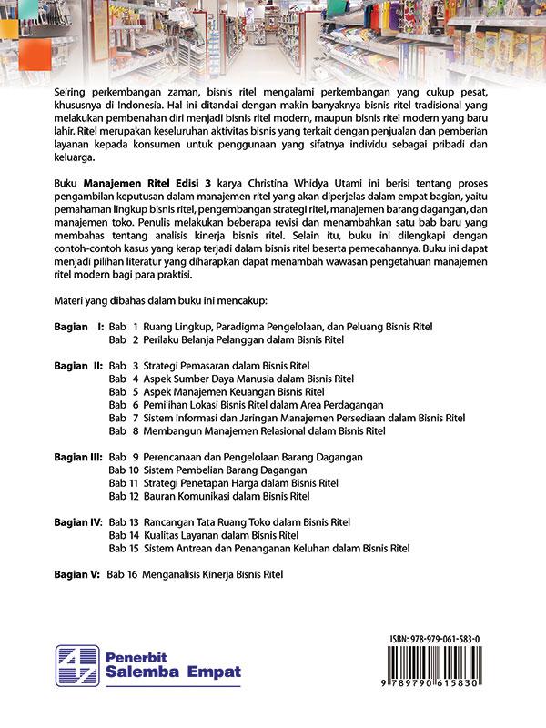 Manajemen Ritel Edisi 3/Christina W. Utami