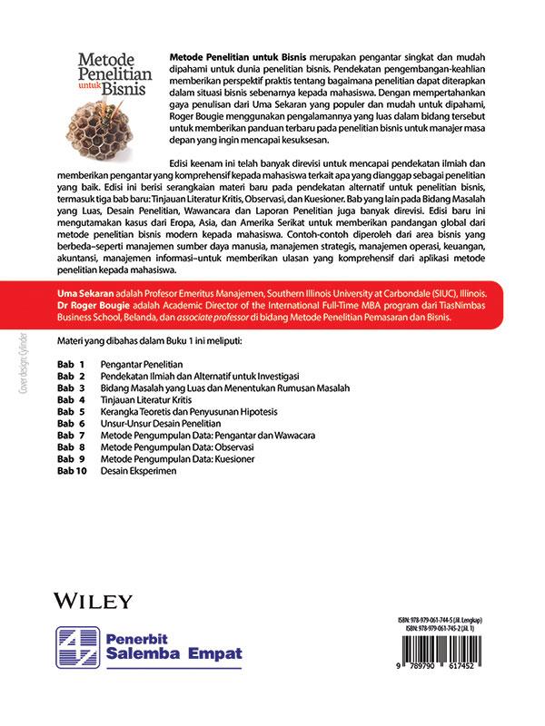 Metode Penelitian untuk Bisnis Edisi 6 Buku 1/Uma Sekaran