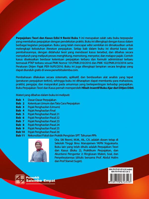 Perpajakan:Teori dan Kasus Edisi 9 buku 1-CD Lampiran/Siti Resmi