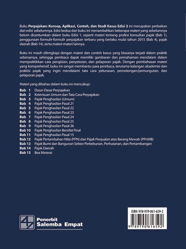 Perpajakan: Konsep-Aplikasi-Contoh dan Studi Kasus Edisi 2/Prof. Abdul Halim-dkk