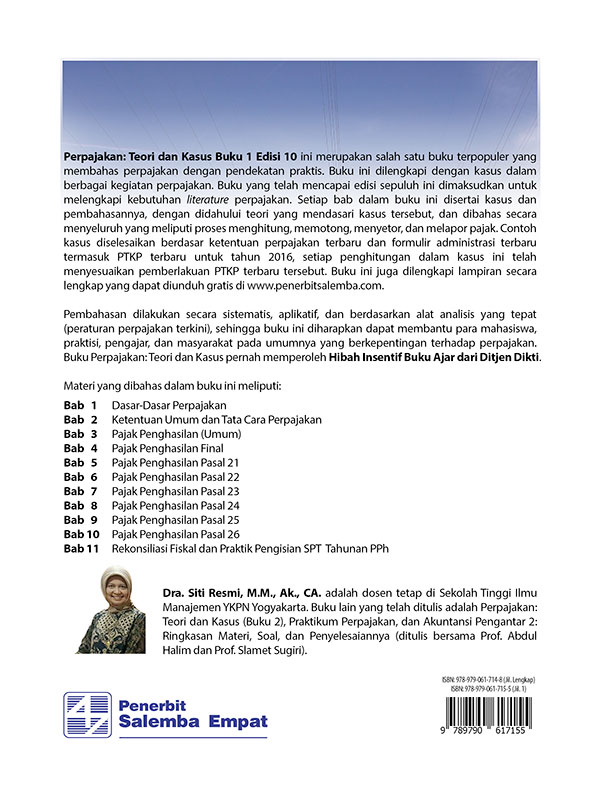 Perpajakan: Teori dan Kasus Edisi 10 Buku 1/Siti Resmi