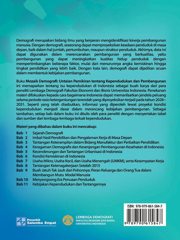Mozaik Demografi: Untaian Pemikiran Tentang Kependudukan dan Pembangunan/Tim Lembaga Demografi