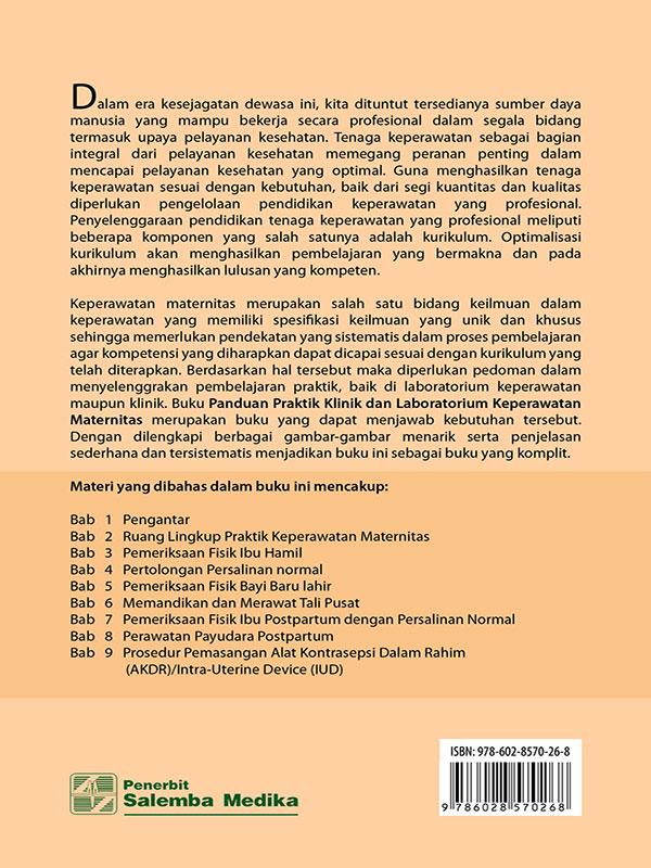 Panduan Praktik Klinik dan Lab. Kep. Maternitas/Deswani