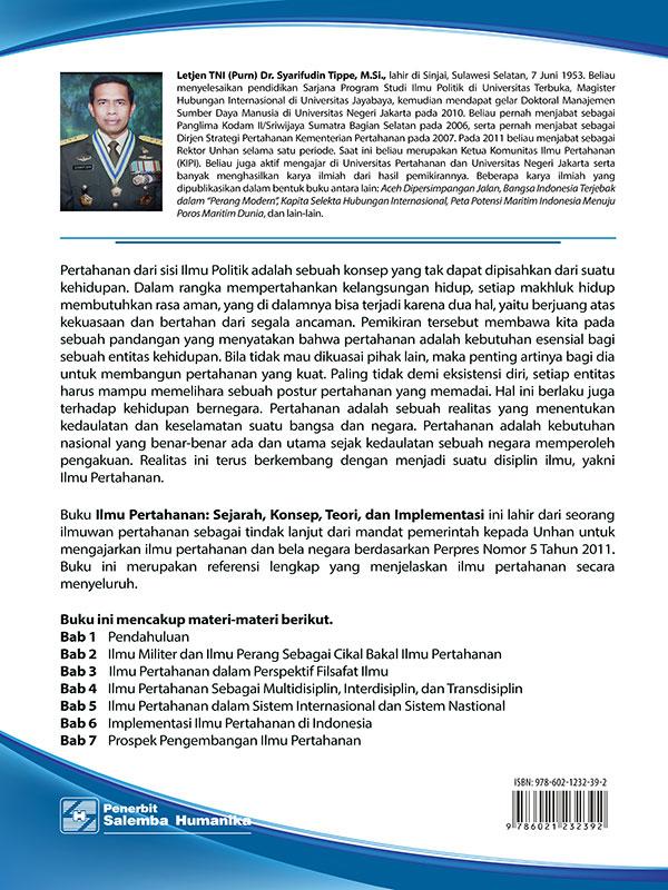 Ilmu Pertahanan: Sejarah-Konsep-Teori dan Implentasi/Dr. Syarifudin Tippe