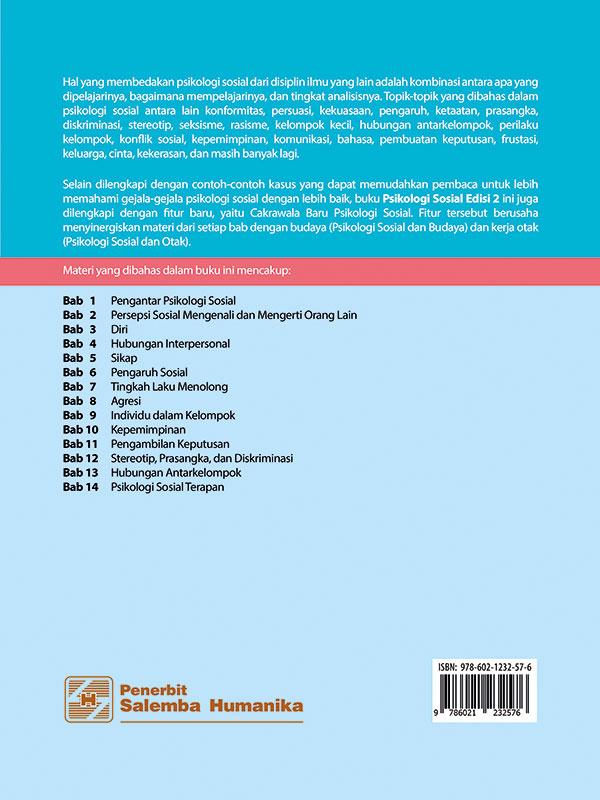 Psikologi Sosial Edisi 2/ Tim Penulis Psikologi UI