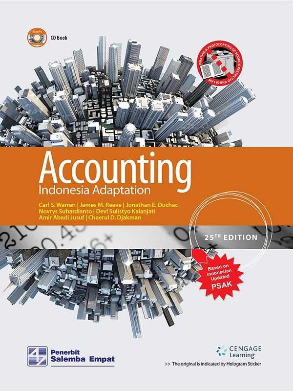Accounting-Indonesia Adaptation 25th Ed-CD Book/Warren