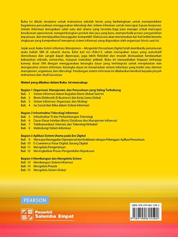 Sistem Informasi Manajemen Edisi 13-CD Book/Laudon