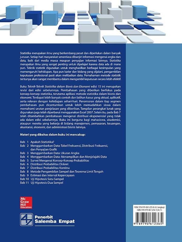 Teknik-Teknik Statistika dalam Bisnis dan Ekonomi Edisi 15 Buku 1/Lind