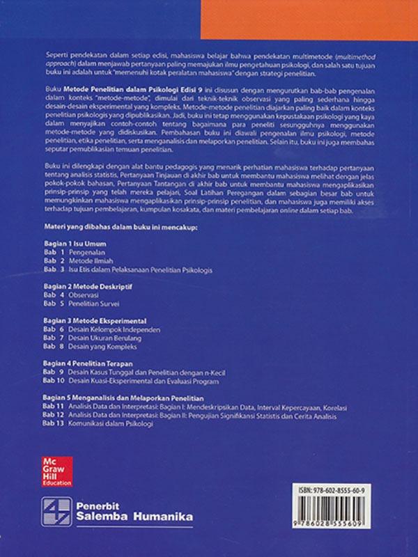 Metode Penelitian dalam Psikologi Edisi 9/Shaughnessy