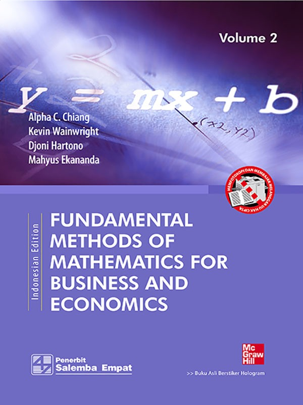 Fundamental Methods of Math. For Business and Eco. 2/Chiang