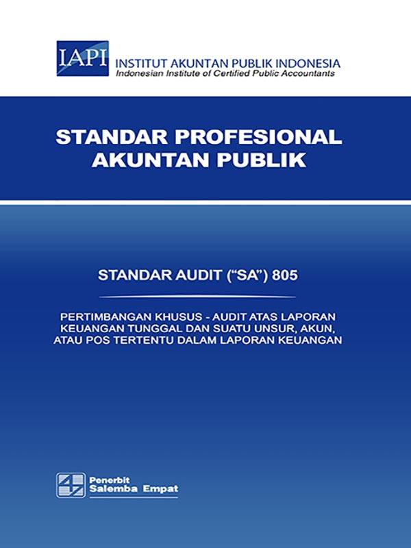 SA 805-Standar Audit/IAPI
