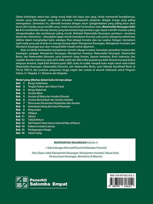 Matematika Keuangan Edisi 4/Budi Frensidy