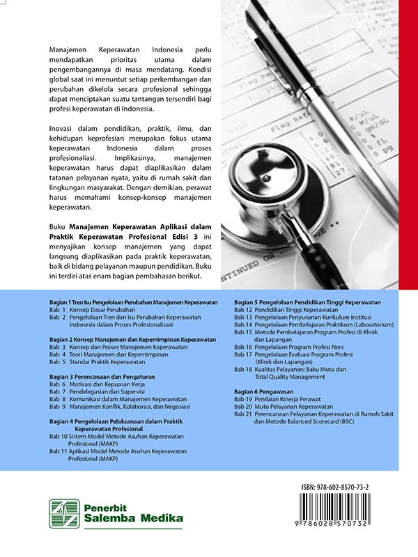 Manajemen Keperawatan: Aplikasi dalam Praktik Keperawatan Profesional Edisi 3/Nursalam