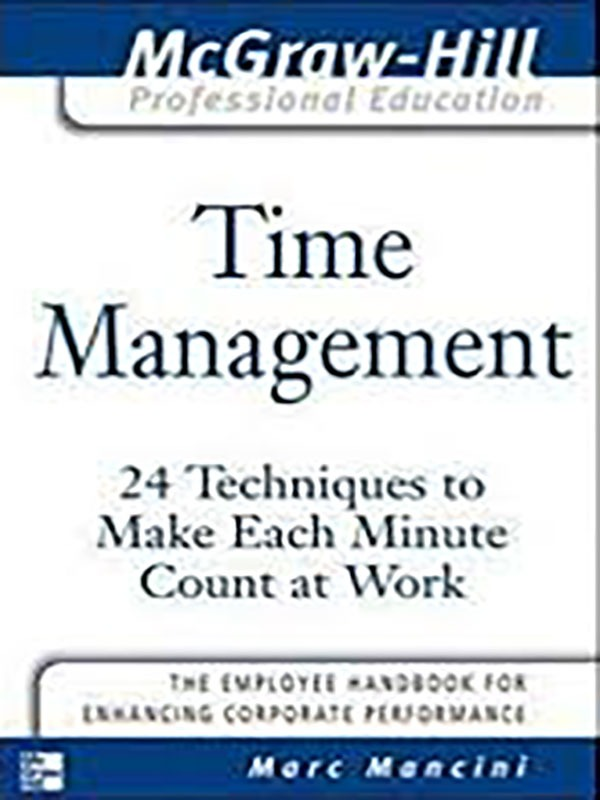 Time Management/Marc Mancini