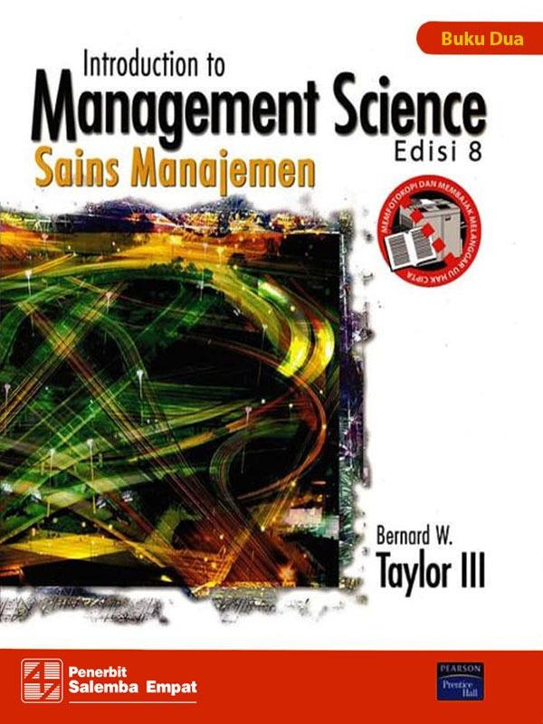 Sains Manajemen Buku 2 Edisi 8/Taylor