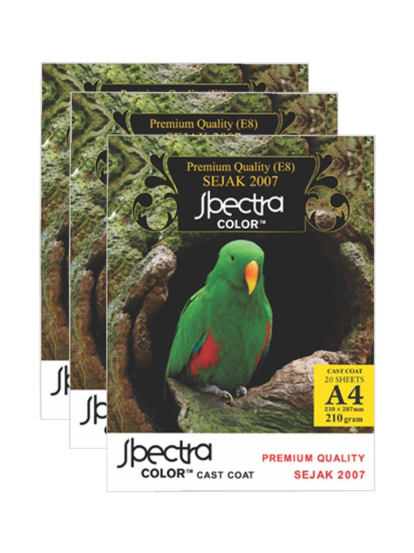 Spectra Color  [Cast Coat 20 Sheets] A4 210gr/pak