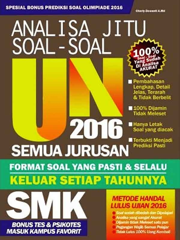 ANALISA JITU SOAL- SOAL UN 2016 SMK -SC-