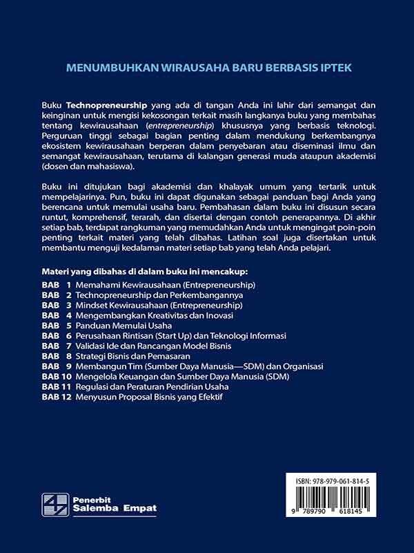 Technopreneurship/Rambat Lupiyoadi-dkk