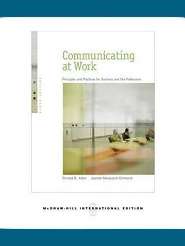 Communication at Work 9e/ADLER