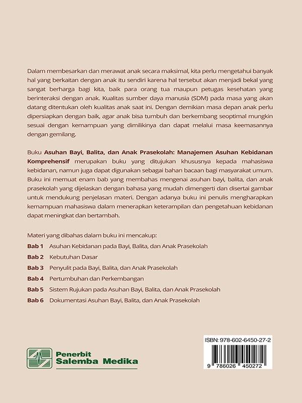 Asuhan Bayi, Balita, dan Anak Prasekolah: Manajemen Asuhan Kebidanan Komprehensif/Bayu Irianti