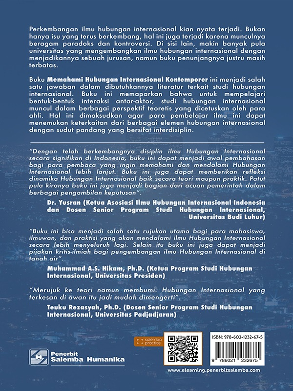 Memahami Hubungan Internasional Kontemporer/Reza Wattimena, Anak Agung Banyu Perwita