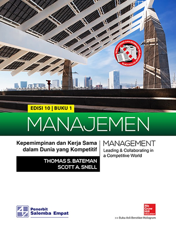 Manajemen: Kepemimpinan dan Kerja Sama dalam Dunia yang Kompetitif (e10) 1/ Bateman