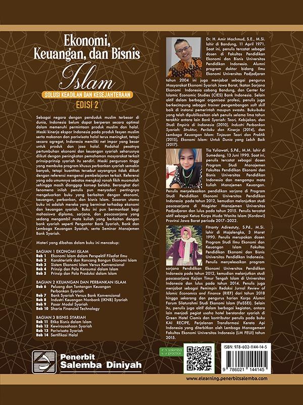 Ekonomi, Keuangan, dan Bisnis Islam: Solusi Keadilan dan Kesejahteraan (e2)/Amir Machmud, dkk