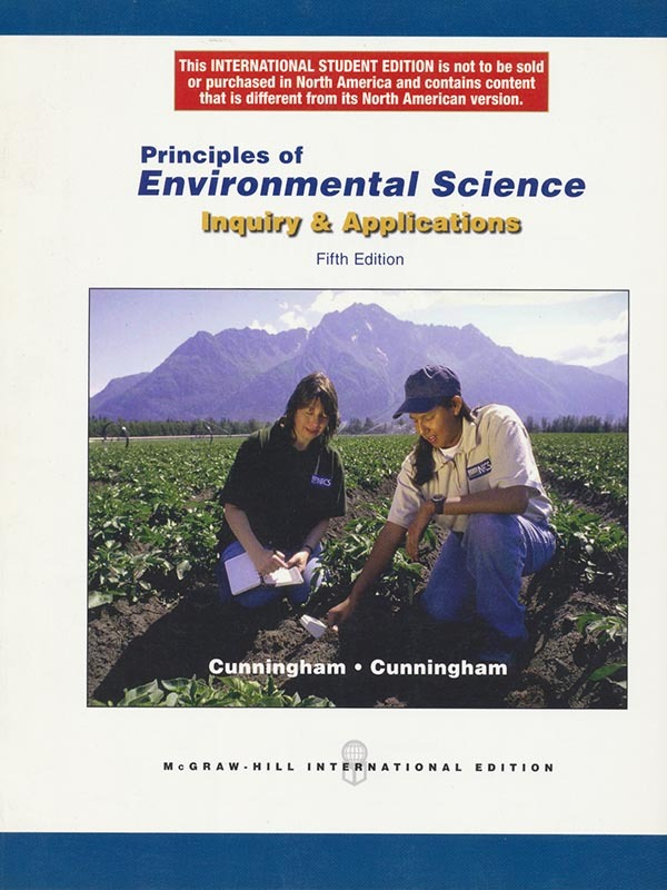 Principles of Environmental Science 5e/CUNNINGHAM