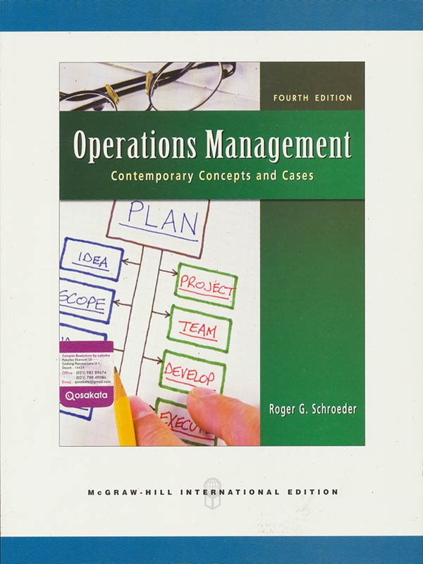 Operations Management 4e/SCHROEDER