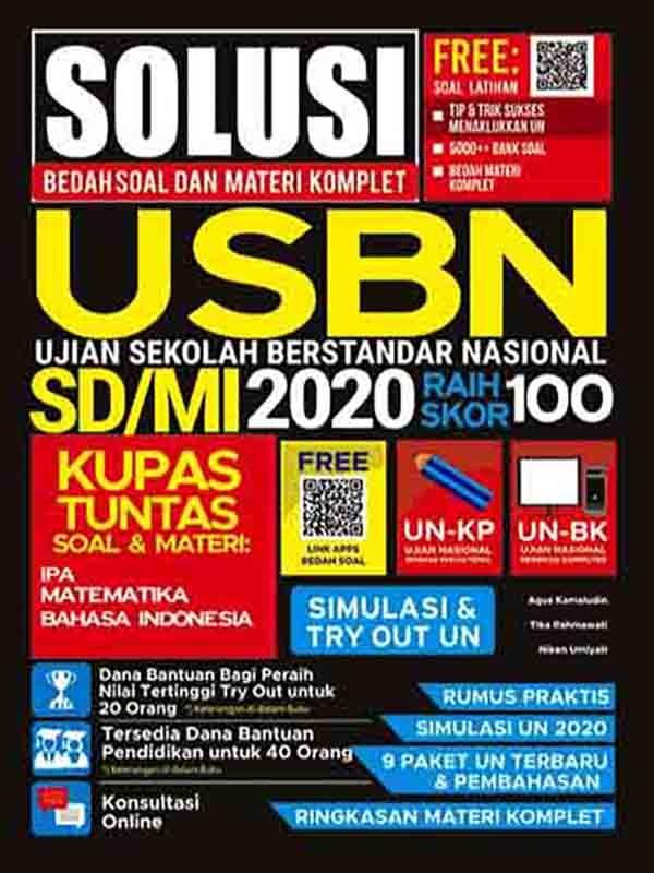 Solusi Bedah Soal dan Materi Komplet UN+USBN 2020 SD/MI Raih Skor 100