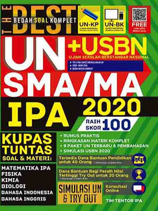 The Best Bedah Soal Komplet UN+USBN SMA/MA IPA 2020 Raih Skor 100