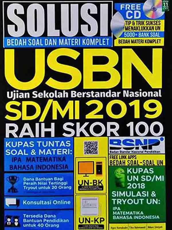 Solusi Bedah Soal Materi Komplet USBN 2019 SD+CD
