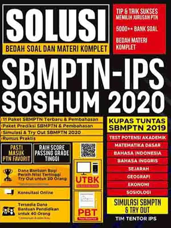 Solusi Bedah Soal dan Materi Komplet SBMPT-IPS 2020 SOSHUM 2020