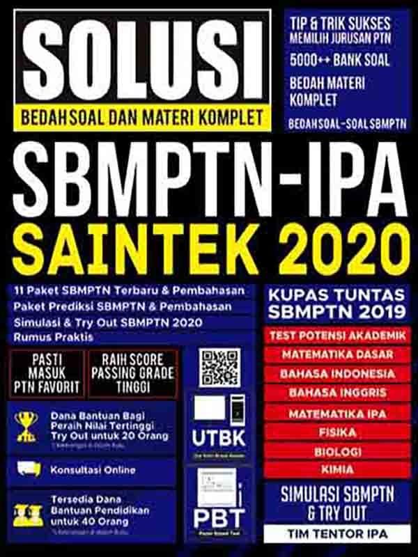Solusi Bedah Soal dan Materi Komplet SBMPTN-IPA SAINTEK 2020