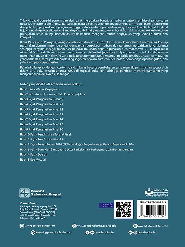 Perpajakan: Konsep, Aplikasi, Contoh, dan Studi Kasus (e3)/Abdul Halim, dkk