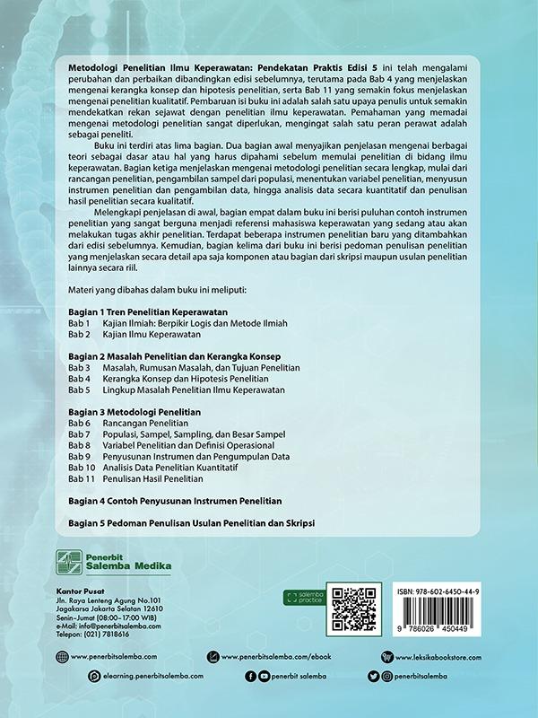 Metodologi Penelitian Ilmu Keperawatan: Pendekatan Praktis (e5)/Nursalam