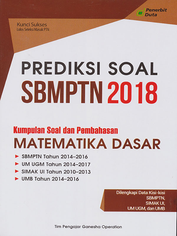 PREDIKSI SOAL SBMPTN 2018 MTK DASAR